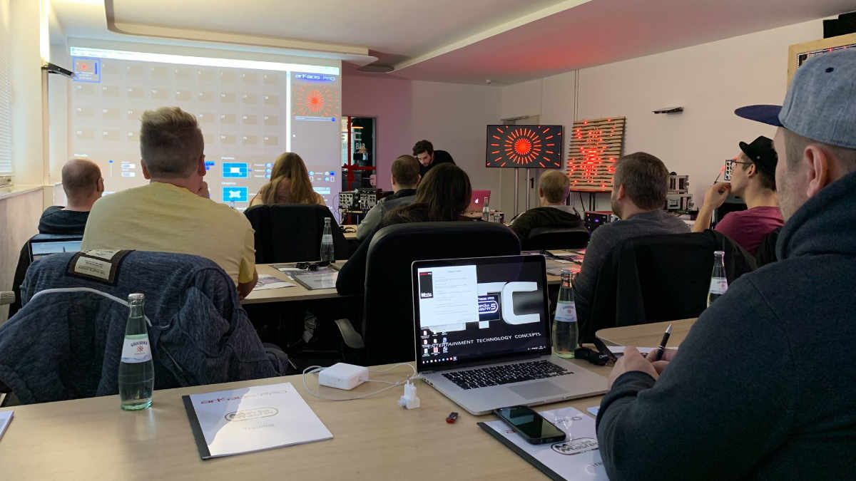 Erfolgreiches Arkaos-Training bei Entertainment Technology Concepts