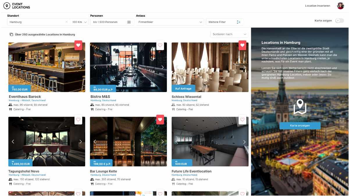 eventlocations.com möchte Veranstaltungslocations vermarkten