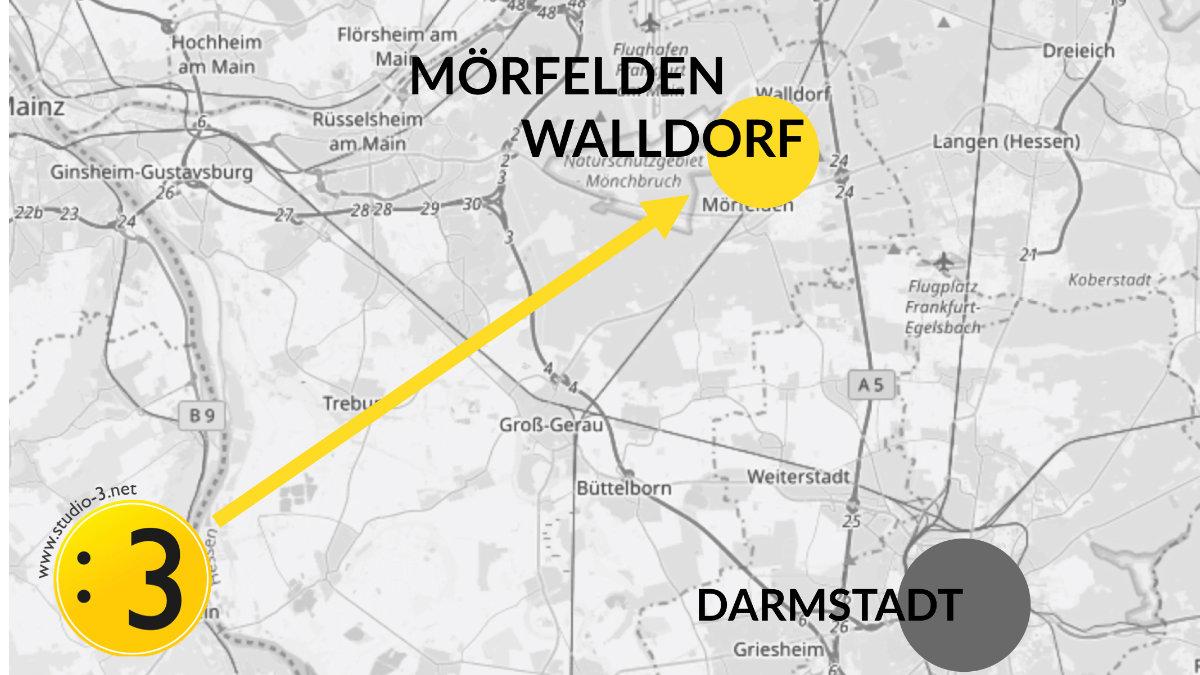 studio : 3 zieht nach Mörfelden-Waldorf