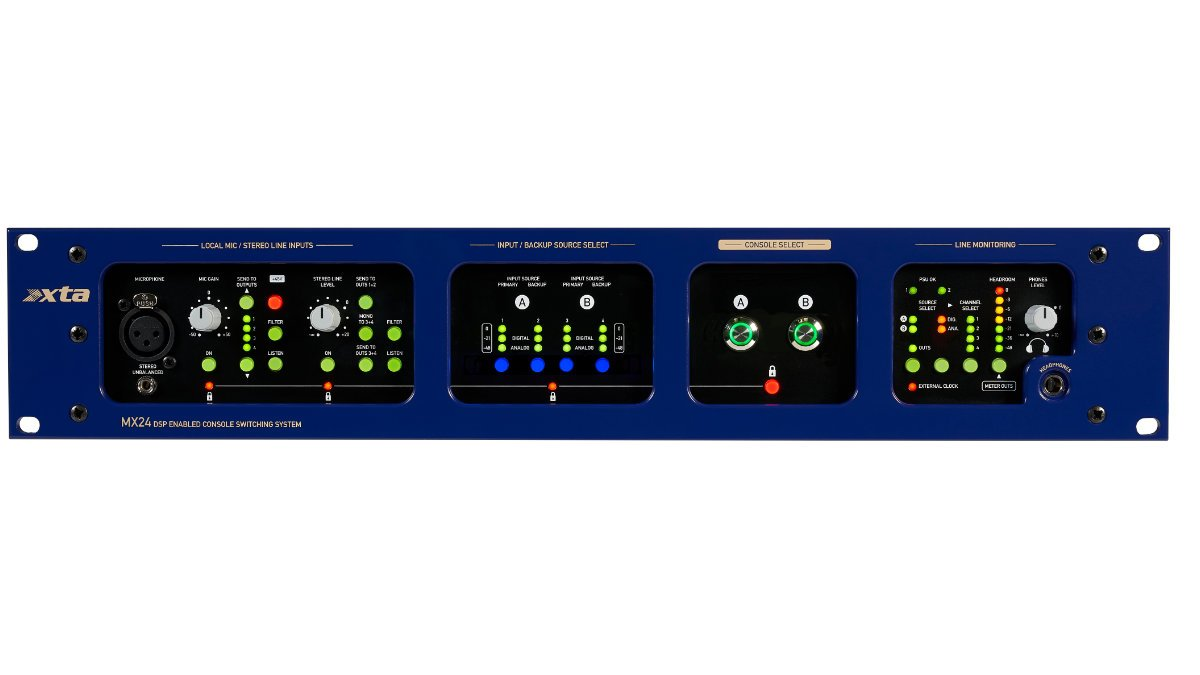 XTA zeigt den Mischkonsolen-Umschalter MX36 auf der ISE