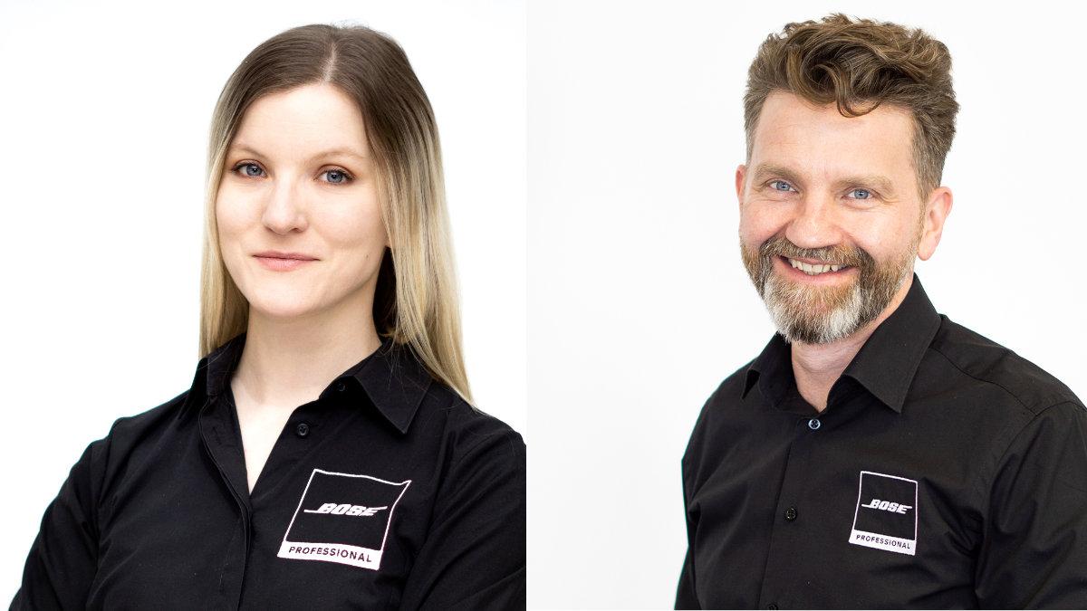 Lisa Affenzeller und Jens Welle verstärken Bose Professional