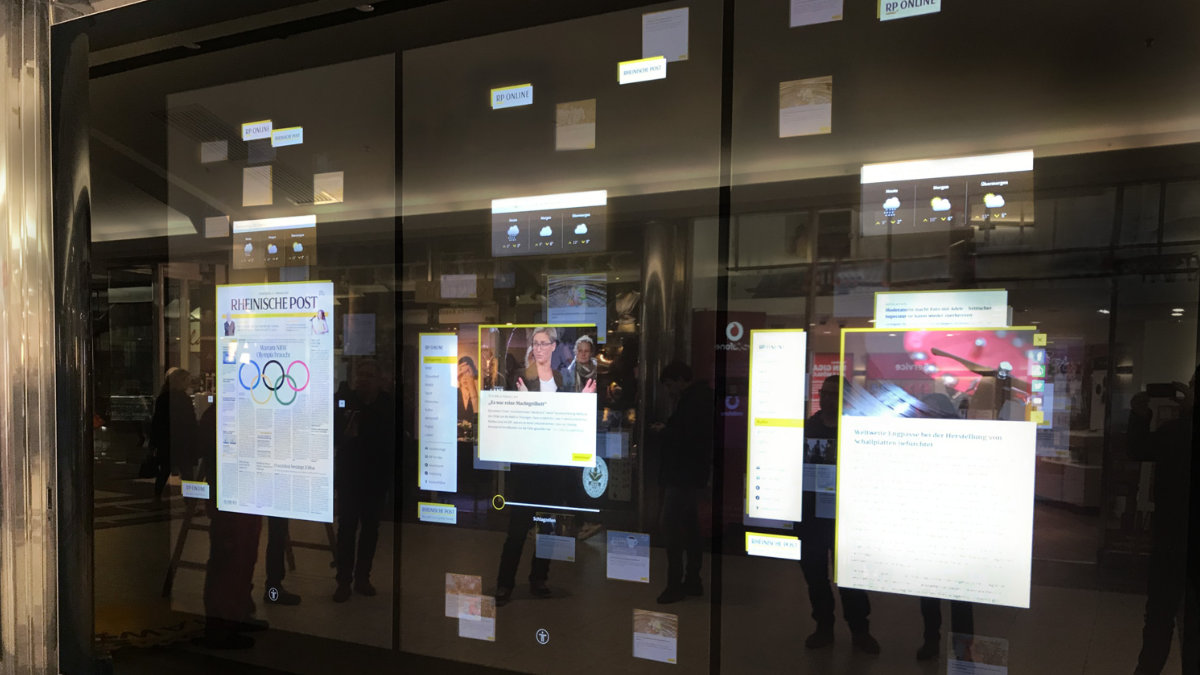 tennagels Medientechnik gestaltet interaktive Medienwand in Düsseldorf