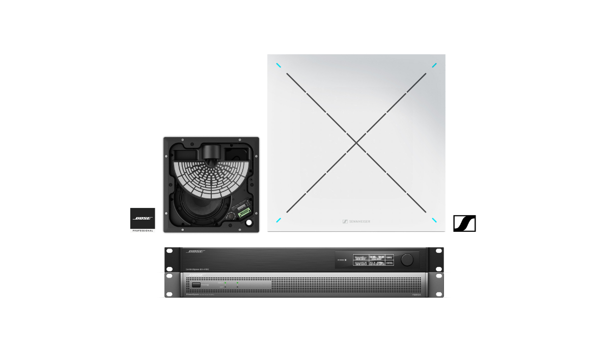 Bose stellt die Audiokonferenzlösung ES1 Ceiling Audio Solution vor