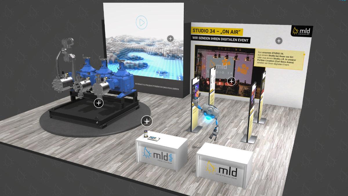 mld digits präsentiert den virtuellen Messestand
