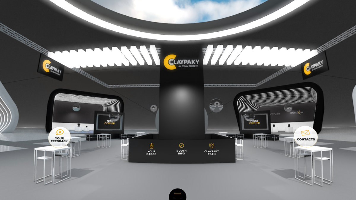 Claypaky Virtual Booth ist online
