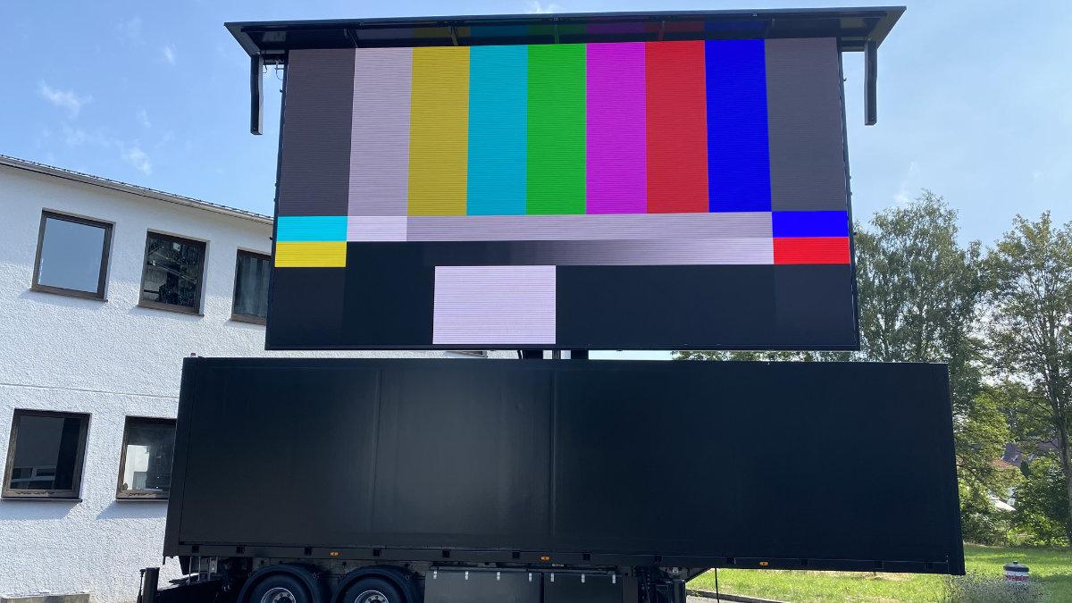 Videotechnik Bär und Rent Event Tec präsentieren den rB50 LED-Truck