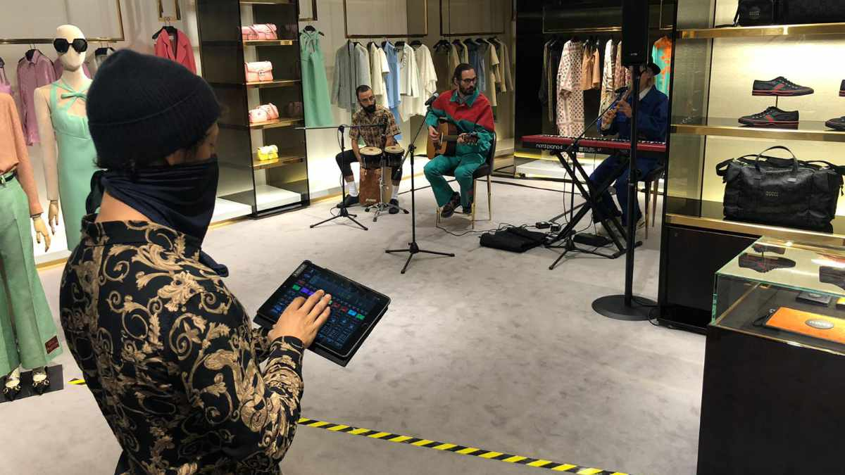 Berger Veranstaltungstechnik und RCF beschallen den GUCCI-Store in München