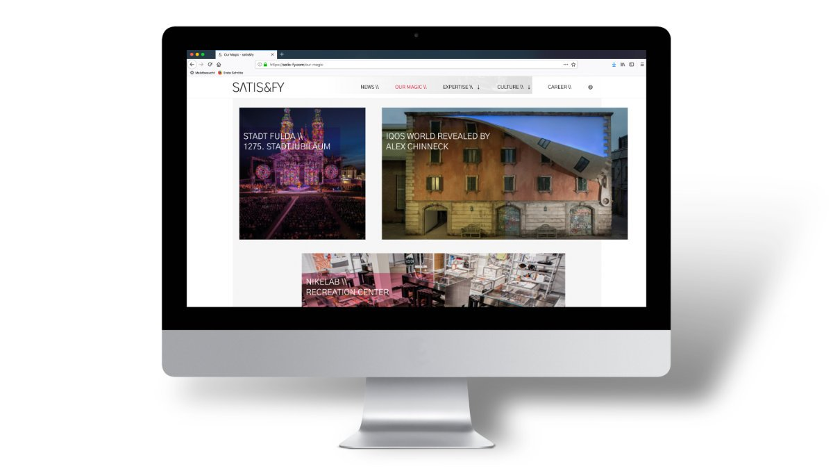 satis&fy launcht neue Website