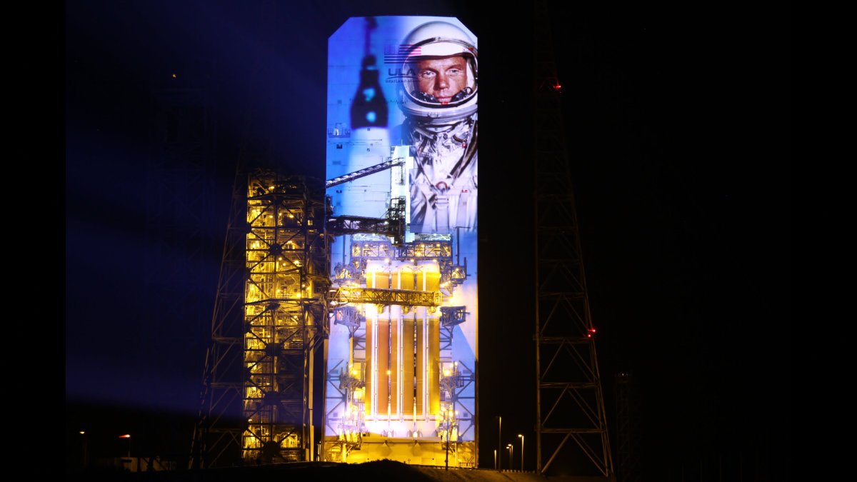 Raketenmapping mit PaintScaping und Christie in Cape Canaveral