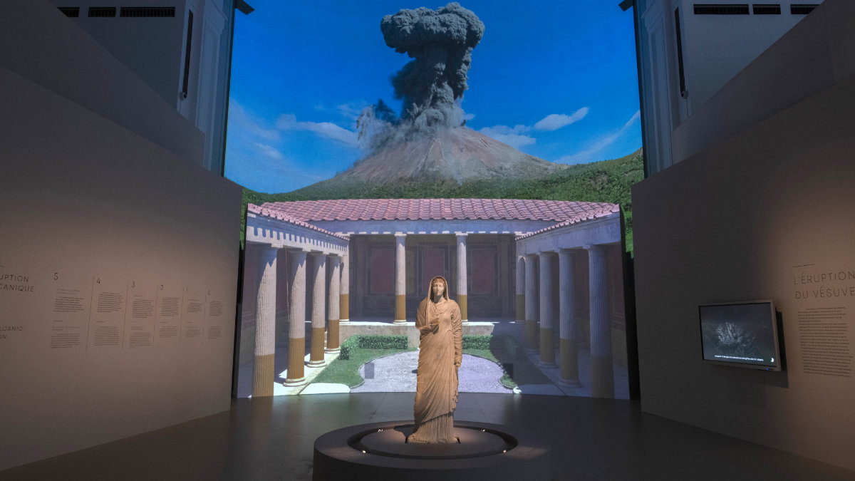 Digital Projection erweckt im Grand Palais Pompeji zum Leben