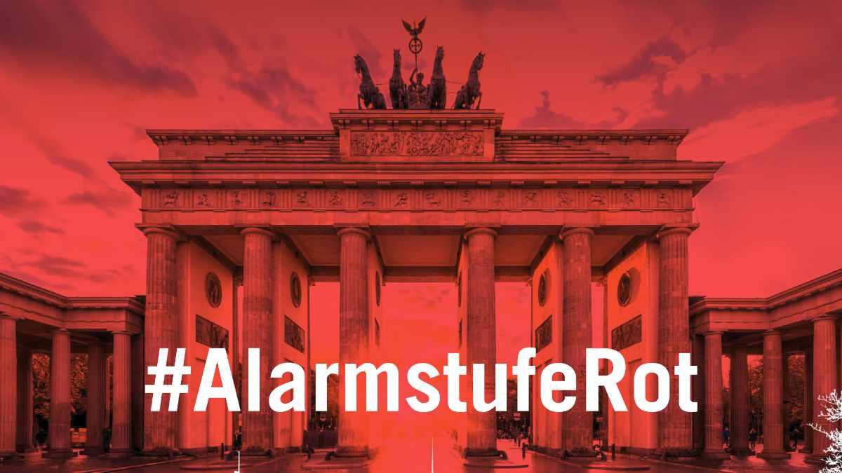 #AlarmstufeRot ruft zur Großdemonstration nach Berlin auf