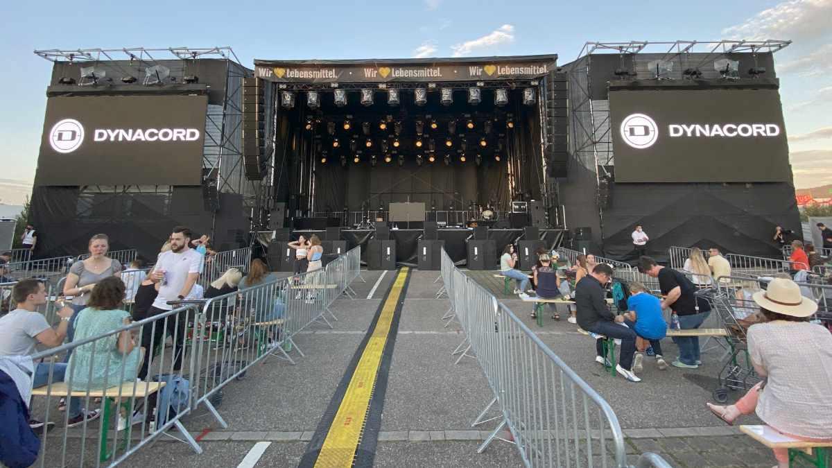 Badensound setzt beim EDEKA Einkaufswagen-Festival auf Dynacord und Electro-Voice