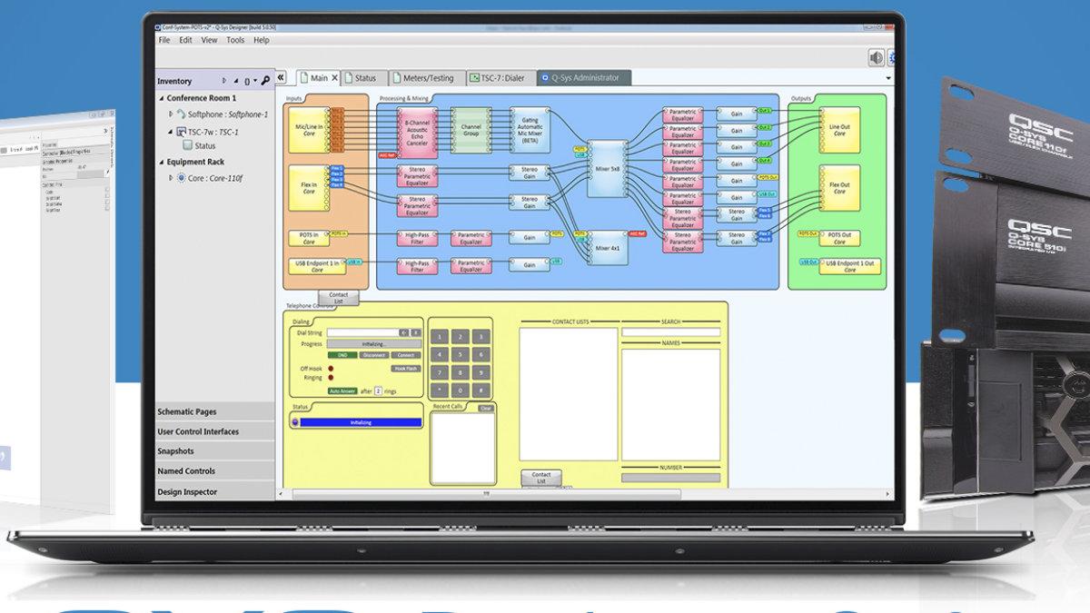 QSC erweitert Q-SYS Control Plug-in Library um Cisco und Barco