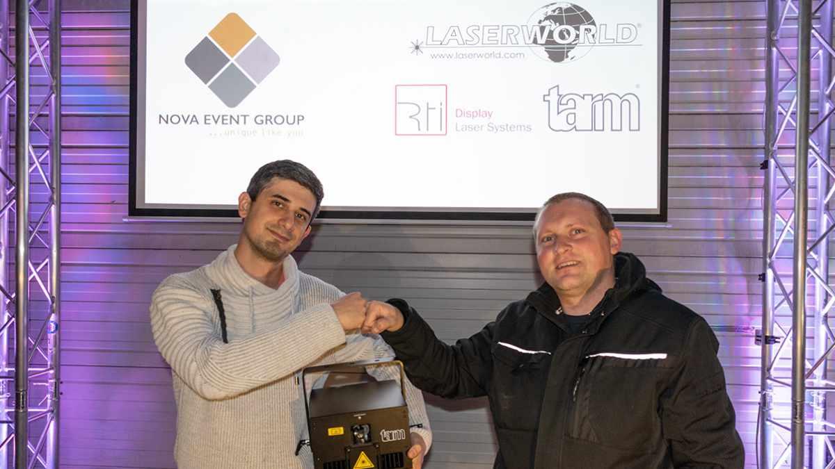 Die Nova Event Group vertreibt Laserworld, tarm und RTI in der Schweiz