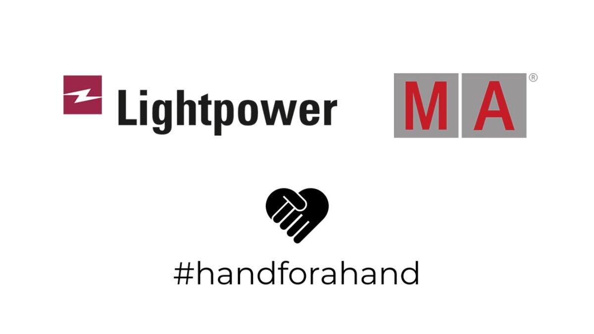 Lightpower und MA Lighting  unterstützen #handforahand