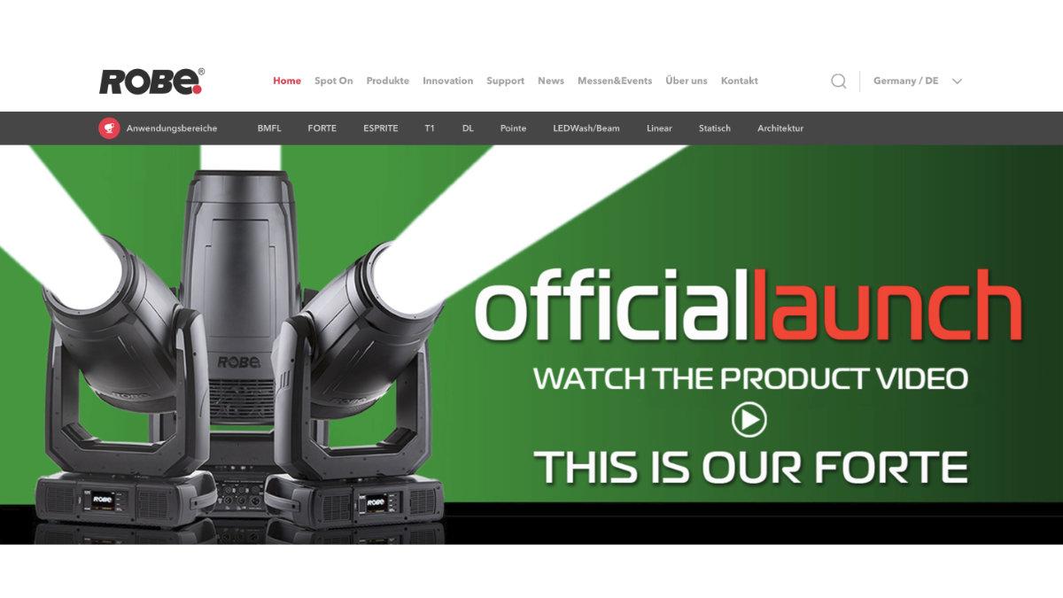 ROBE launcht neue Website