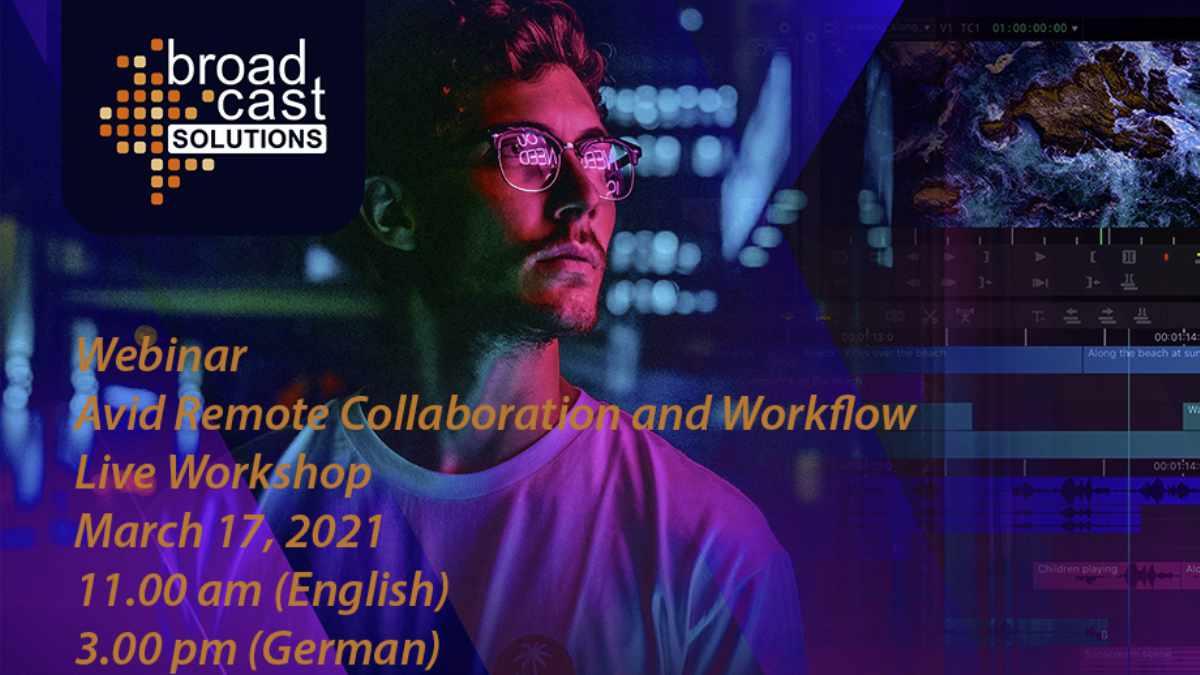 AVID Remote Collaboration und Workflow Webinar