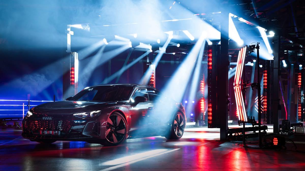 ROBE Licht-Parcours bei der Audi e-tron GT Premiere