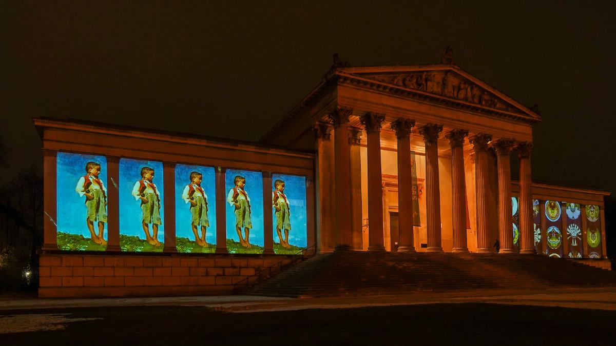 TITAN-Laserprojektoren illuminieren das Kunstareal München