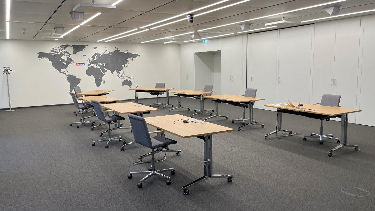 Amptown System Company installiert Medientechnik bei tesa