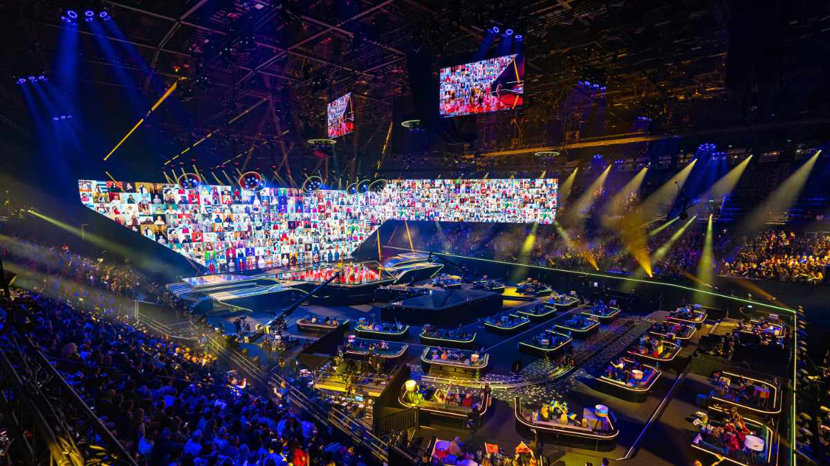 Riedel beim Eurovision Song Contest in Rotterdam