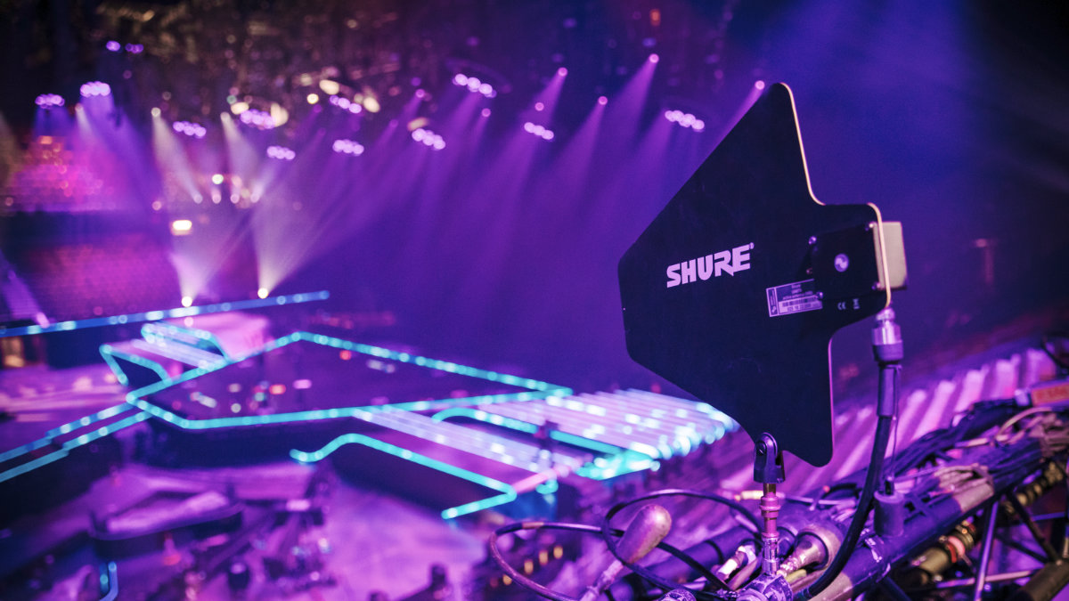 Shure beim Eurovision Song Contest in Rotterdam